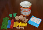 RARE Educational Classic Tinkertoy Construction Builder Set 46 pc Real Wood LOT