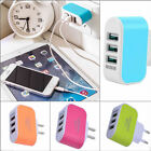 3.1A Triple USB Ports Wall Home Travel Charger Adapter For iPhone LG Samsung S5