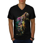 Honeybee Beast Print Men V-Neck T-shirt NEW | Wellcoda