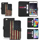 pu leather wallet case for lots of Mobile phones - american flag