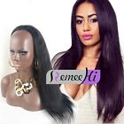 3/4 Half Wig 100% Indian Remy Human Hair Half Wig Silky Straight Hair Weft Cap