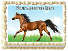 BROWN HORSE Image Edible cake topper decoration