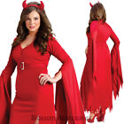 CL993 Gothic Devil Red Halloween Dress Up Horror Plus Medieval Women Costume
