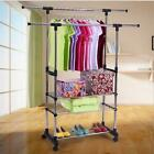 11 Modle Heavy Duty Rail Adjustable Portable Clothes Hanger Rolling Garment Rack