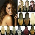 Inspiration Women 27.5'' Long Straight Curly Natural Full Wig Heat Safe Hair USA