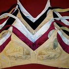 Lot of 6 Non-Padded Durable High Quality Soft No Wire Plus Comfort Bra #058