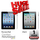 Apple iPad 16GB Black | 2 or 4th Generation (Retina Display) | One Year Warranty