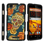 For ZTE Max Boost N9520 Case Hard Snap On 2 Piece Slim Shell Sinister Skulls
