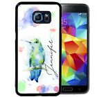 PERSONALIZED RUBBER CASE FOR SAMSUNG S8 S7 S6 S5 EDGE PLUS HUMMING BIRD WATERCOL