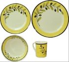 Quest Palermo Melamine Separates OR Sets of 4 Plate Bowl Cup Mug Olive Design