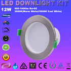 6X12W LED DOWNLIGHT KIT WARM OR COOL WHITE DIMMABLE RECESSED IP44 DOWNLIGHT IC-F