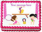 GYMNASTIC GIRLS Edible image Cake topper decoration