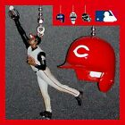 MLB CINCINNATI REDS GRIFFEY JR & RIDDELL HELMET/LOGO BASEBALL CEILING FAN PULLS on Ebay