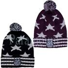 Soulstar Knitted Bobble Patterned Pom Pom Beanie  Mens, Womens Size