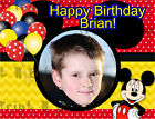 Mickey Mouse Birthday Edible Image Cake Topper Personalized Icing Sheet