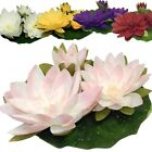 Floating Silk Water Lily Artificial Plants Flowers Lilies Wedding Decorations