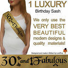 30TH BIRTHDAY GIRL PARTY SASH NIGHT OUT ACCESSORY GIRLS SASHES THIRTY FUN New* s