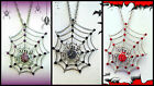 SPIDER WEB NECKLACE~WICKED WITCH SEXY HALLOWEEN COSTUME PARTY COSPLAY ACCESSORY
