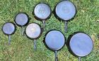 Griswold Erie Large Block Logo Lot Cast Iron Skillets 3 4 5 6 7 8 9 Skillet LBL