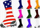 Razur Football Spats Sock Wrap Lace Cleat Cover, Pair, Crew Length, Adult/youth