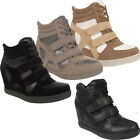 Womens Ladies Girls Velcro Lace Up Glittery Fashion Ankle Boots Trainers Shoes