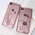 Elegant Case For iPhone 7 7 Plus Austria Crystal Ultra-thin Plating PC Cover