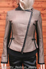 Karen Millen Texture Tweed Faux Leather Dress Suit Blazer Evening Jacket 14 42