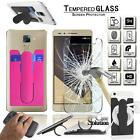 Silicone card holder + Tempered Glass Screen Protector For Huawei Honor Mobile