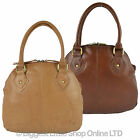 NEW Ladies LEATHER Grab BAG by GiGi Soft Classic Handbag Honey Shoulder Straps