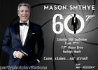 James Bond invitation, movie parody invitation, male birthday, funny bday invite $35.0 AUD