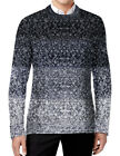 Ship From USA! $89 MENS CALI HOLI CABLE KNIT CREWNECK PULLOVER CONTRAST SWEATER