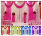 Pleated Wedding Party Backdrop Curtain Background Decor Sparkly Sequin Swag