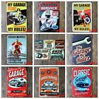 Vintage Metal Sign Tin Retro Car Repair Shop Pub Bar Garage Wall Decor Poster
