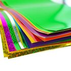 A4 Adhesive Craft Paper Peel & Stick Coloured Holographic Metallic Art Sheet