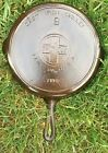 Rare Griswold Cast Iron # 9 Large Block slant Logo Skillet w Heat Ring 710 B