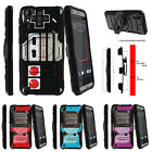 For HTC Desire 530 Armor Rugged Clip Holster Kicstand Case Game Controller