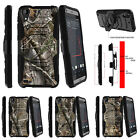 For HTC Desire 530 Armor Rugged Clip Holster Kicstand Case Tree Bark Hunter Camo