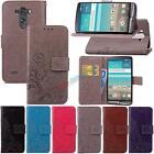 For LG Phones Leather Wallet Embossing Clover Flip Card Stand Case TPU Cover