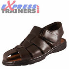 Premier Moza-X Mens Leather Fishermans Casual On Trend Sandals Velcro Brown