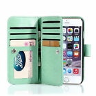Magnetic Filp Faux Leather Cell Phone Cover Case Wallet Purse Card Cash Holder