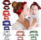 2pcs Mother Baby Girl Kids Headband Hair Band Bow Boho Bunny Flower Accessories