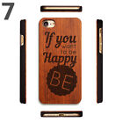 Popular Retro Wood Phone Case  Natural Carving Design Wooden Cover for iPhone7