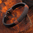 New Men's Surfer Vintage Hemp Wrap Leather Wristband Bracelet Jewelry Hot Sale