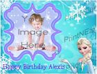Frozen Edible Image Cake Topper Personalized Frosting Sheet