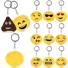 Emoji Smiley Plush Toy Doll Emoticon Yellow Soft Cushion Keychain Keyring Decor