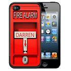 PERSONALIZED RUBBER CASE FOR iPHONE 5 5S 5C SE 6 6S 7 PLUS FIRE ALARM