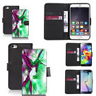 pu leather wallet case for many Mobile phones - humingbird green