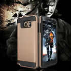 Brushed Metal HYBRID Hard Rubber IMPACT Protective Case Phone Cover