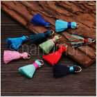 5 COLOURFUL MINI SILK TASSELS Craft Jewellery Scarf Keyring Earring Necklace