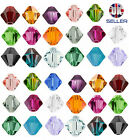 50pcs Swarovski Crystal Elements Beads 5301 Xilion Bicone 4mm -Choose the colour
